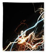 Street Busy At Night  Abstract Fleece Blanket