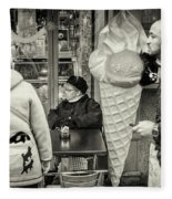 Street Ice Cream Fleece Blanket