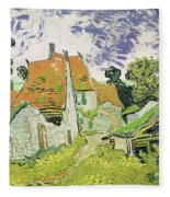 Street In Auvers Sur Oise Fleece Blanket
