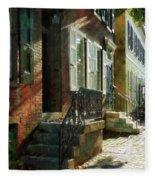 Street In New Castle Delaware Fleece Blanket