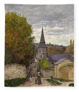 Street In Sainte Adresse Fleece Blanket