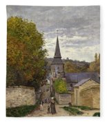 Street In Sainte Adresse Fleece Blanket