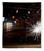 Street Lights Fleece Blanket