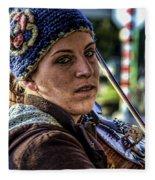 Street Musician IIi Fleece Blanket