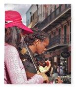 Street Musicians Fleece Blanket