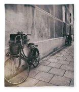 Street Photo Bicycle Fleece Blanket