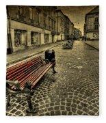 Street Seat Fleece Blanket