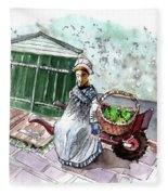 Street Seller In Helsingor Fleece Blanket