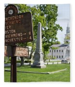Street Sign In Fitzwilliam, New Hampshire Fleece Blanket
