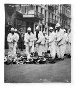 Street Sweepers, 1911 Fleece Blanket