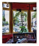 Streetcar Interior New Orleans  Fleece Blanket