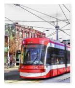 Streetcar On Spadina Avenue #17 Fleece Blanket