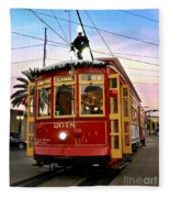 Streetcar Sunset Fleece Blanket