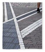 Streets Of Mainz 1 Fleece Blanket