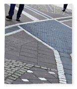 Streets Of Mainz 2 Fleece Blanket