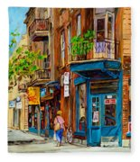 Streets Of Montreal Over 500 Prints Available By Montreal Cityscene Specialist Carole Spandau Fleece Blanket