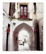 Streets Of Ostuni Fleece Blanket
