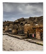 Streets Of Pompeii - 1a Fleece Blanket