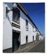 Streets Of Ribeira Grande Fleece Blanket