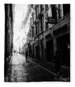 Streets Of Rome 2 Black And White Fleece Blanket