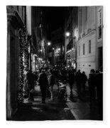 Streets Of Rome At Night  Fleece Blanket