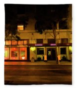 Streets Of San Jose, Ca Midnight Fleece Blanket