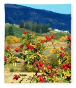 Striking Autumn Red Fleece Blanket