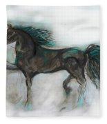 Striking Stallion Fleece Blanket