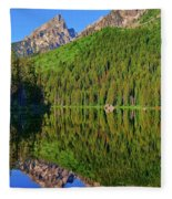 String Lake Morning Mirror Fleece Blanket