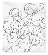 String Quartet Fleece Blanket