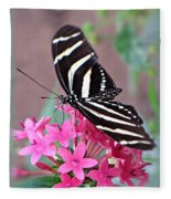 Striped Beauty - Butterfly Fleece Blanket