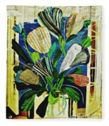 Striped Tulips At The Old Apartment Fleece Blanket