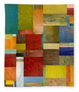 Strips And Pieces L Fleece Blanket