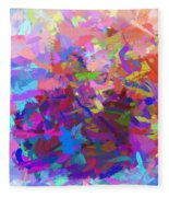 Strips Of Pretty Colors Abstract Fleece Blanket