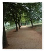 Stroll On Mulberry Row Monticello Fleece Blanket