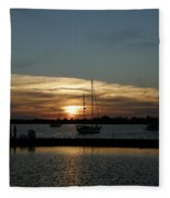 Strolling In The Sunset Fleece Blanket
