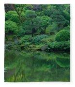 Strolling Pond Serenity Fleece Blanket