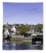 Stromness Harbor Fleece Blanket
