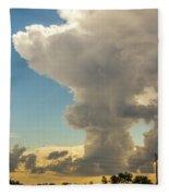 Strong Storms In South Central Nebraska 001 Fleece Blanket