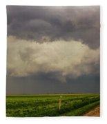 Strong Storms In South Central Nebraska 008 Fleece Blanket