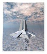 Structural Tower Of Atlantis Fleece Blanket