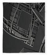 Structure - Center For Brain Health - Las Vegas - Black And White Fleece Blanket