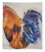 Strutting Rooster Fleece Blanket