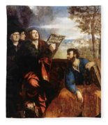 Sts John And Bartholomew With Donors 1527 Fleece Blanket