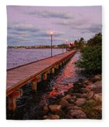 Stuart Riverwalk Sunset Fleece Blanket