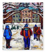 L'art De Mcgill University Tableaux A Vendre Montreal Art For Sale Petits Formats Mcgill Paintings  Fleece Blanket