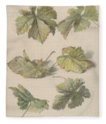 Studies Of Vine Leaves, Willem Van Leen, 1796 Fleece Blanket