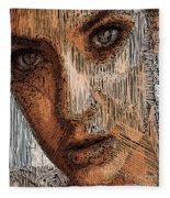 Studio Portrait In Pencil  Fleece Blanket