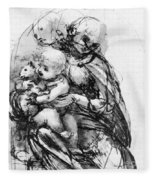 Study For A Madonna With A Cat Fleece Blanket