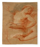 Study For Boreas Abducting Oreithyia Fleece Blanket